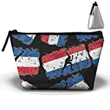 Short Track Speed Skating Dutch Flag Unisex Cosmetic Bags Handbag Wrist Bags Clutch Bags Cell Phone Bags Purses