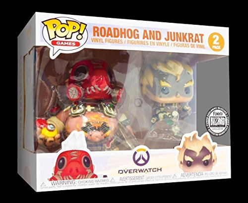 (SDCC 2018 Blizzard Exclusive Roadhog and Junkrat 2 Pack Funko Pop)