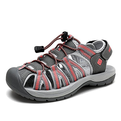 DREAM PAIRS Women's 160912-W-NEW Grey Coral Adventurous Summer Outdoor Sandals Size 9 M US by DREAM PAIRS