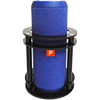FitSand(TM) Speaker Holder Stand Guard Station for JBL Flip 4 / 3 / 2 / 1 Splashproof Portable Bluetooth Speaker - Black