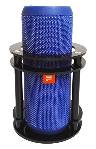 FitSand(TM Speaker Stand Holder Guard Station for JBL Flip 4/3 / 2/1 Splashproof Portable Bluetooth Speaker - Black by FitSand