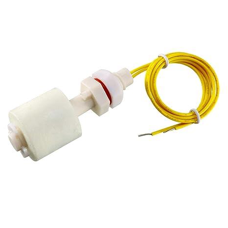Acuario Pecera Sensor De Nivel De Agua Vertical plástico de los PP Interruptor De Flotador Blanco