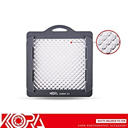 Kora KWBF-01 Professional White Balance Filter With Strap For Camera lens up to 83mm Thread Size