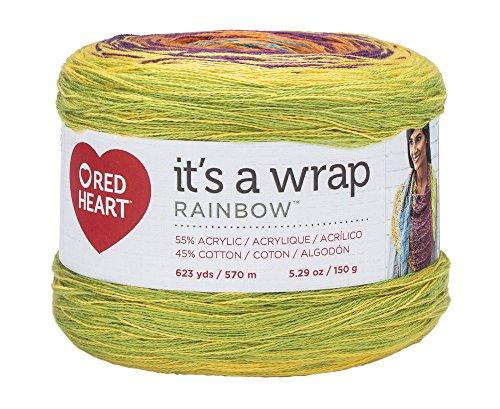 Red Heart Wrap Rainbow Yarn product image
