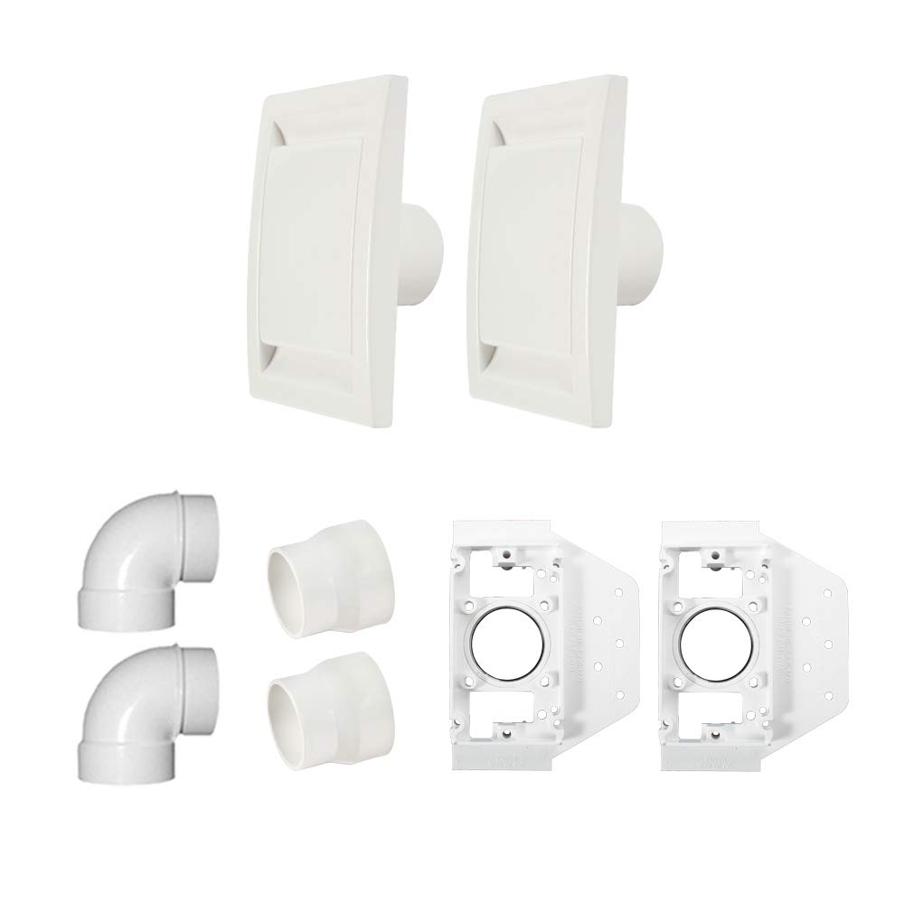 Cen-Tec Systems 2 Inlet Central Vacuum Installation Set Kit, White