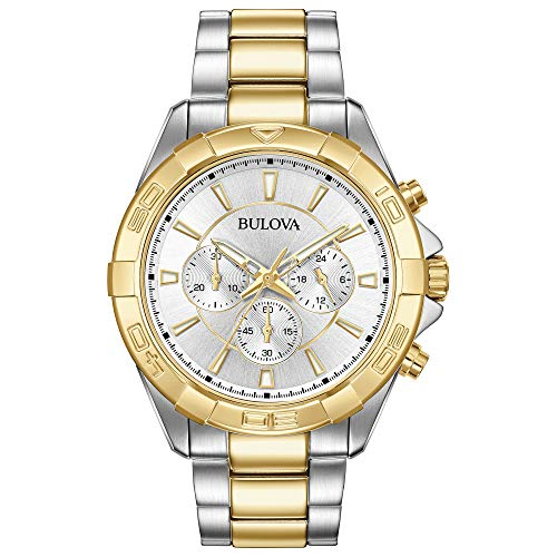 Diamond Pilot Watch - Bulova Men's Watch Sports Two-Tone Chronograph Watch (Model: 98A221)