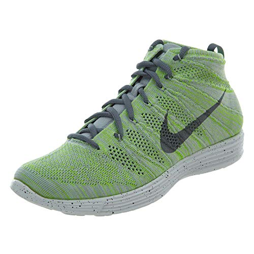 Nike Womens Lunar Flyknit Chukka Fabric Low Top Lace Up, White, Size 10.0