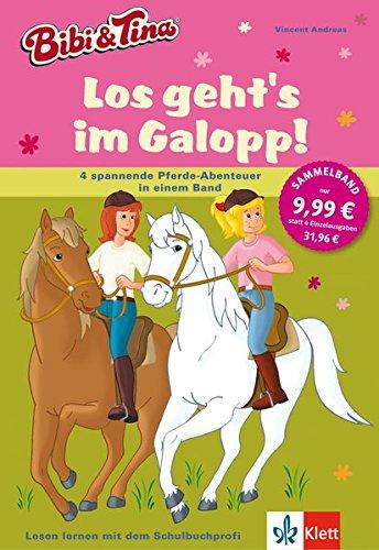 Bibi und Tina - Los geht's im Galopp!: 4 spannende Pferde-Abenteuer in einem Band. Leseanfänger ab 6 Jahren