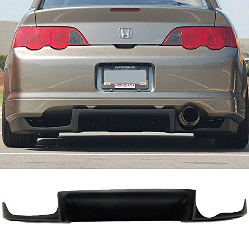 Rear Bumper Lip Diffuser Fits 2002-2006 Acura RSX | JS Style Black FRP Add on Aftermarket Replacement Parts Rear Splitter by IKON MOTORSPORTS | 2003 2004 2005