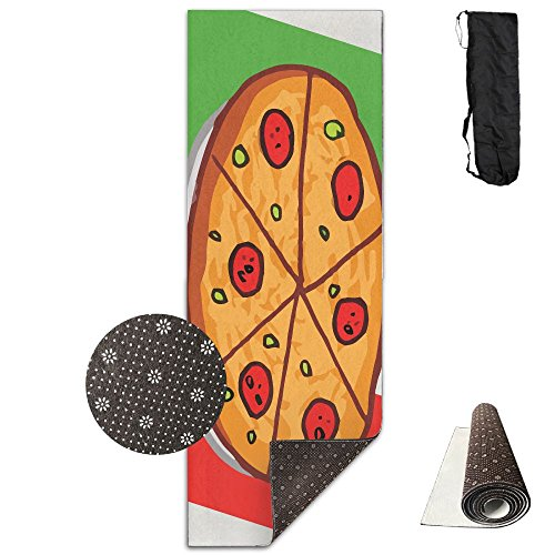 QNKUqz The Pizza Cartoon Of The Italy Flag Deluxe Yoga Mat Aerobic Exercise Pilates by QNKUqz