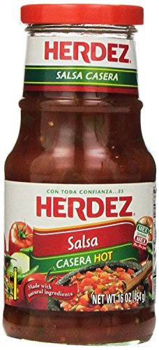 Herdez Salsa, Casera, Hot, 16-Ounce by Herdez