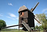 Home Comforts Peel-n-Stick Poster of Brandenburg Windmill Wind Power MillPoster 24x16 Adhesive Sticker Poster Print