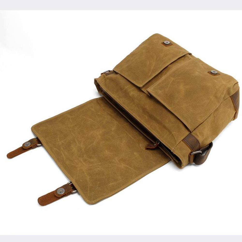ALEMU Männer Segeltuch Schultertasche, Freizeit Retro, Umhängetasche Laptoptasche,braun Laptoptasche,braun Laptoptasche,braun B07H6MY6C3 Daypacks Verwendet in der Haltbarkeit 555267