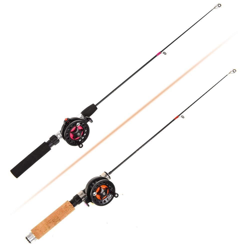 LMEI-QUN, Pesca de Invierno Poste de Hielo for cañas de Pescar al ...