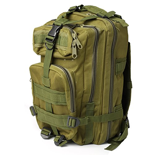 Blanco Pulls (30L MOLLE Assault Backpack Tactical Army Rucksack Camping Backpack Assault Pack Camouflage Rucksack Oxford Trekking Backpack Travel Daypack Army)