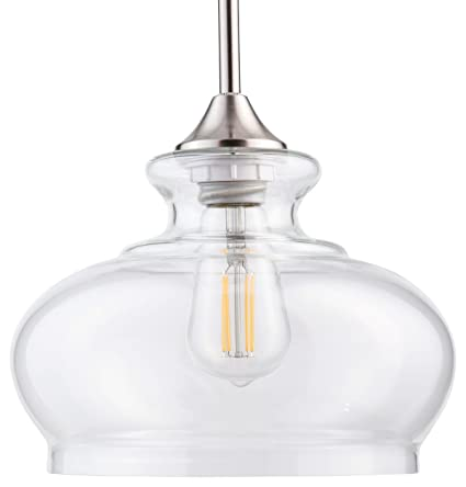 ariella ovale led kitchen pendant light fixture brushed nickel