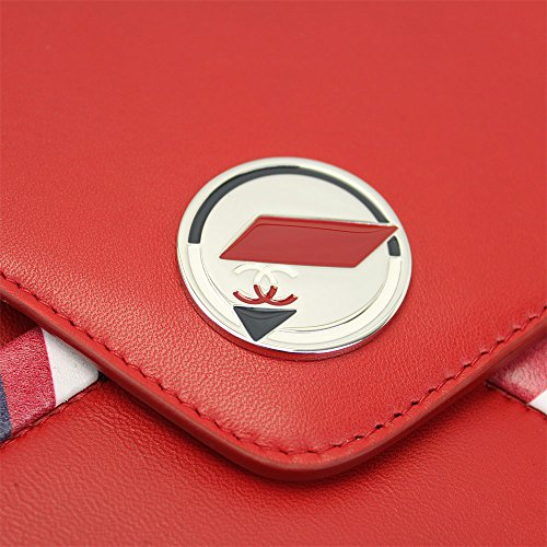 2016′ Ss Chanel Airlines Red Leather Pouch A82434 Y25399 2B425