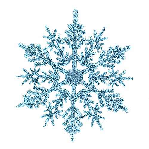 tter Snowflake Christmas Ornaments Xmas Tree Hanging Decoration14cm ()
