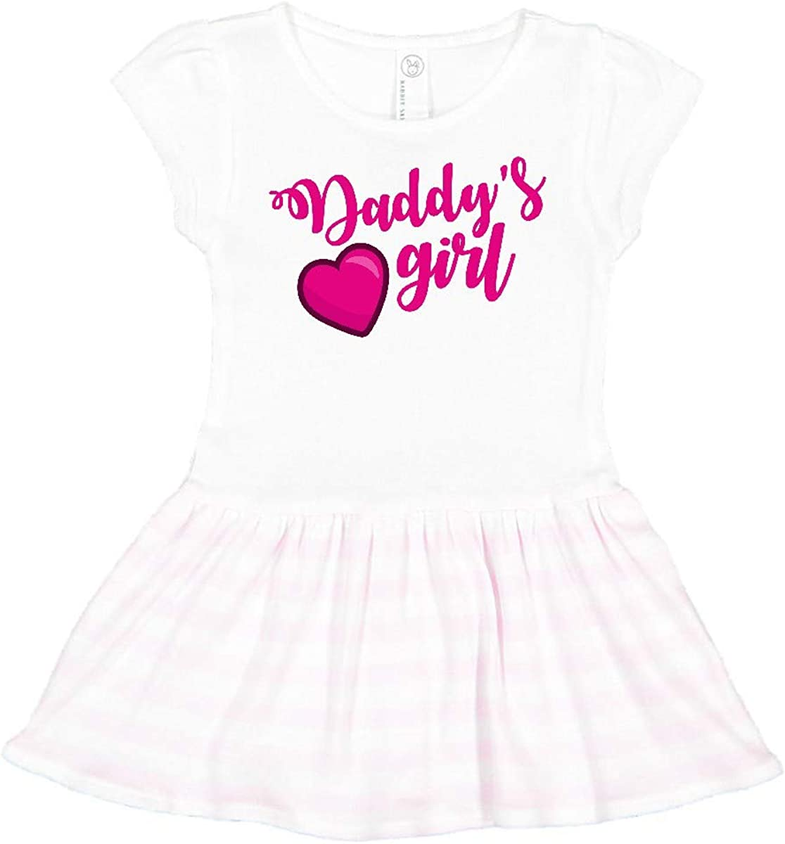 inktastic Valentines Day Daddys Girl with Heart Outfit Toddler T-Shirt