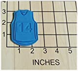 Basketball Jersey with Changeable Number Set Cookie Cutter #1184