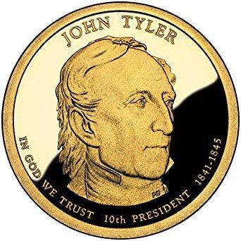 2009 S Proof John Tyler Presidential Dollar
