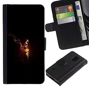Protector de cuero de la PU de la cubierta del estilo de la carpeta del tirón BY RAYDREAMMM - Samsung Galaxy S5 V SM-G900 - Assassins Cred