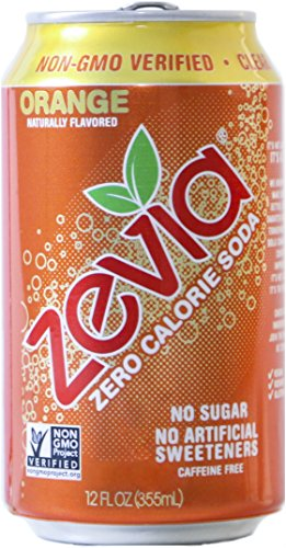 - Zevia All Natural Soda, Orange, 12-Ounce Cans (Pack of 24)