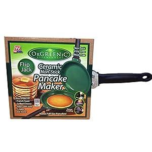 Orgreenic Flip Jack Ceramic Green Non-Stick Pancake Maker