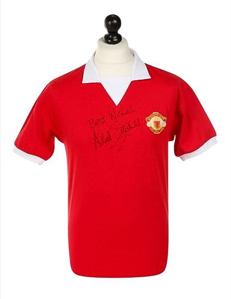 David Sadler - firmado camiseta del Manchester United autógrafos ...
