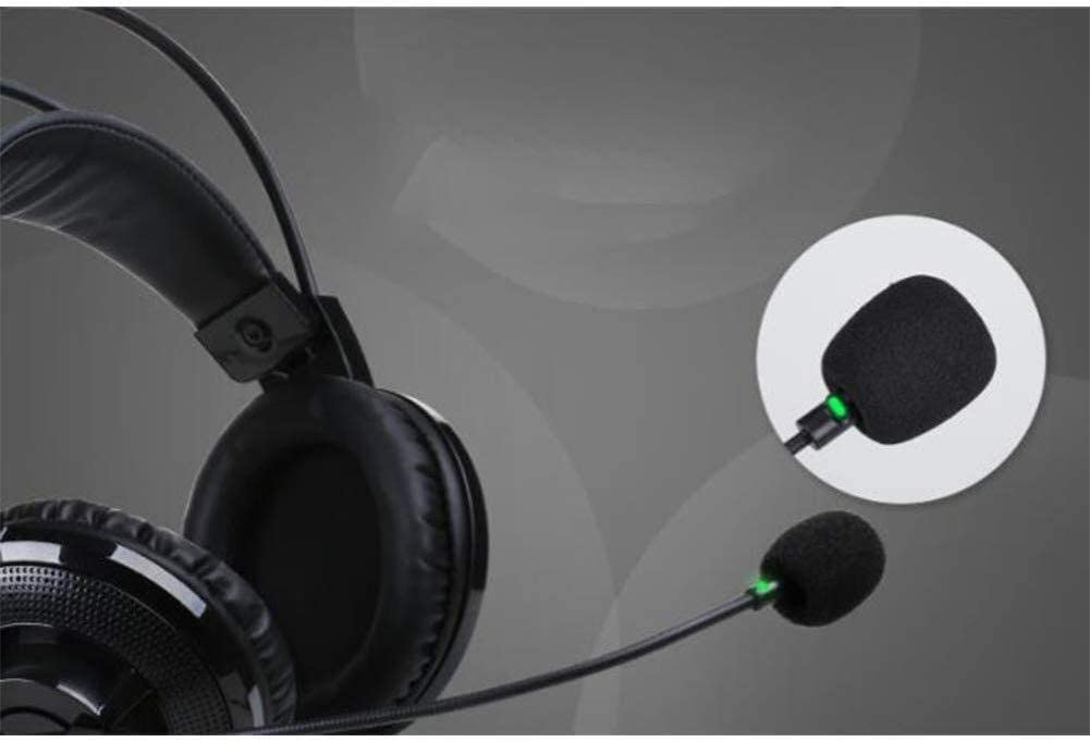 RENKUNDE Black Cable Gaming Headset Head-Mounted Adjustable Ear Cushions to wear Comfortably Reduce Hearing Impairment Gaming Headset