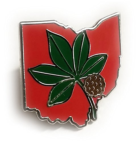 - OSU Ohio State University Buckeyes Leaf Lapel Pin