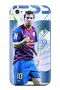 Fashion Tpu Case For Iphone 4/4s- Awesome Lionel Messi New Defender Case Cover