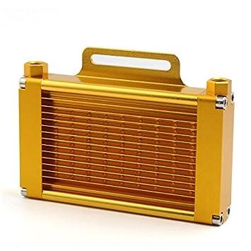 Tone DealMux ouro liga de alumínio 14 linhas 9mm Tópico Reter Dia do motor da motocicleta refrigerador de óleo do radiador: Amazon.es: Coche y moto
