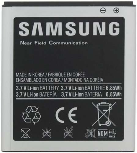 Samsung EB-L1D7IBA Original OEM Battery i547 i727 T989 SPH-L700 - Non-Retail Packaging - Black