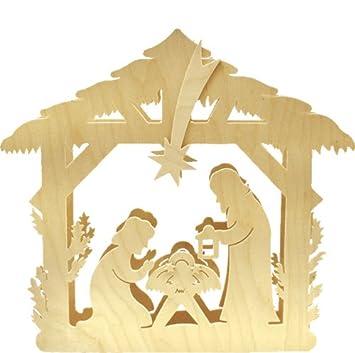 Unbekannt Holz Bastelset 3 D Beleuchtetes Fensterbild