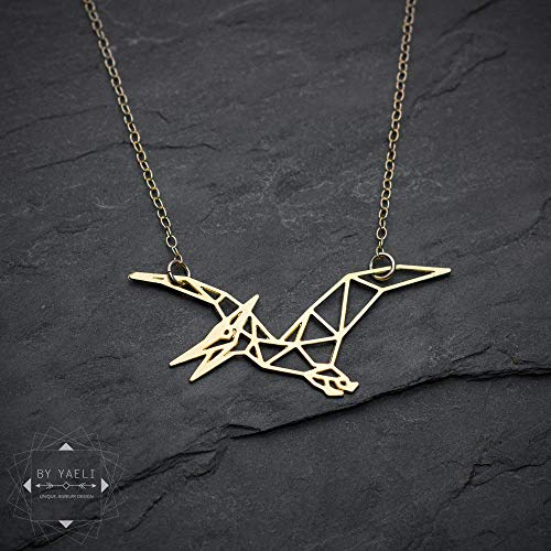 geometric necklace Origami necklace gift under 50 geometric boat necklace gift for her gold boat necklace dainty necklace