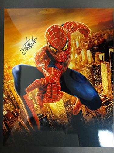 Stan Lee Signed 16X20 Spiderman Photo Autograph Auto Aa94370 - Psa/Dna
