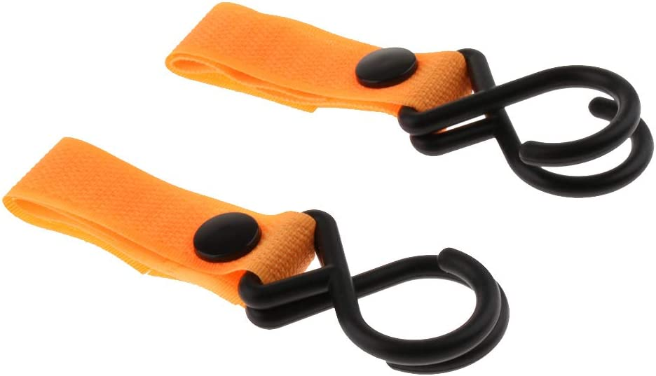 2pcs Multi Purpose Stroller Hook Clips Hanger For Purse as described Shopping /& Diaper Bags Black