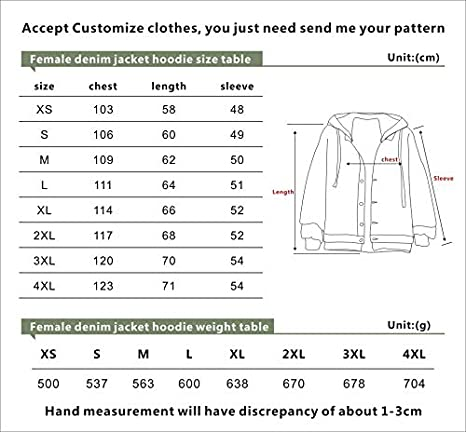 MIYECC Xxxtentacion Denim Hoodie Fashion Casual Denim Jacket Coat ...