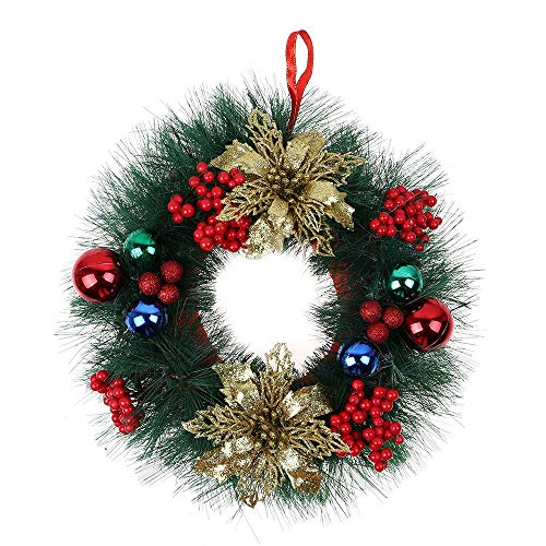 Outdoor Lighted Artificial Christmas Wreaths in US - 3