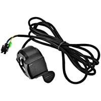 E-Bike Throttle, Scooter Thumb Throttle with 4 Wires 12V - 99V for Electric Bike Scooter Motorcycle Motorbike
