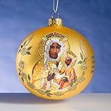 Madonna of Chestohowa Polish Glass Christmas Ornament