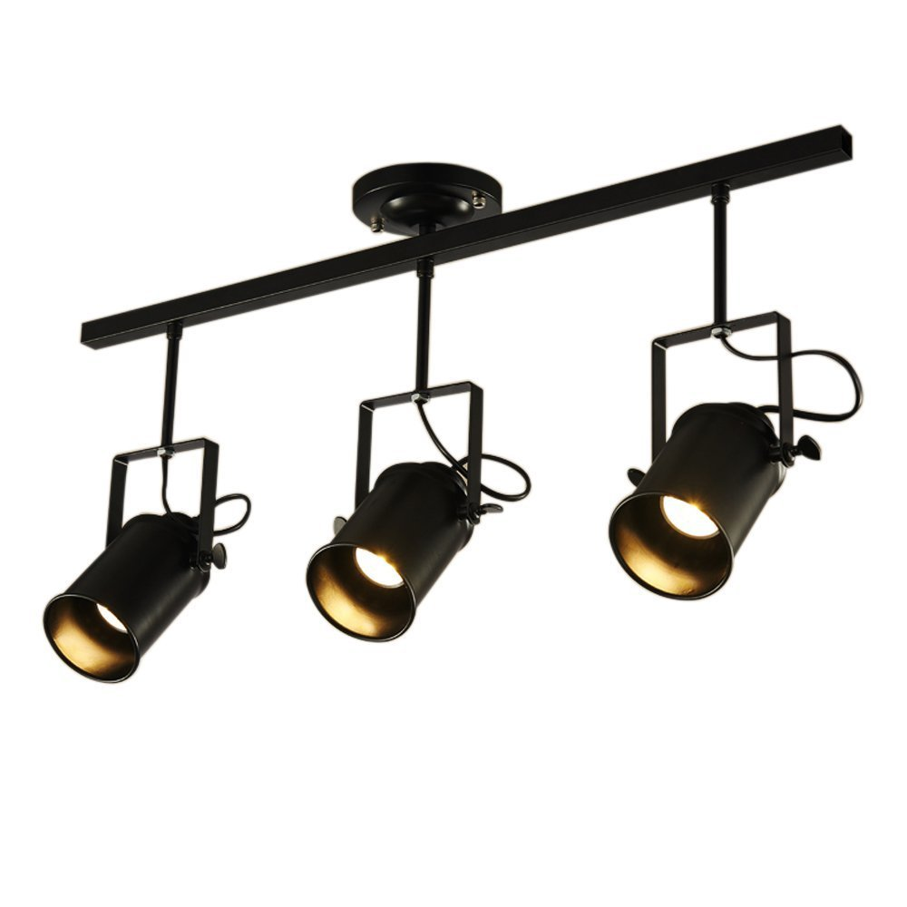 GBYZHMH Spotlight YGSD retro, creative personality of the industrial clothing store Restaurant Bar guide rail lights LED source to the maximum 40W of energy A+ A+
