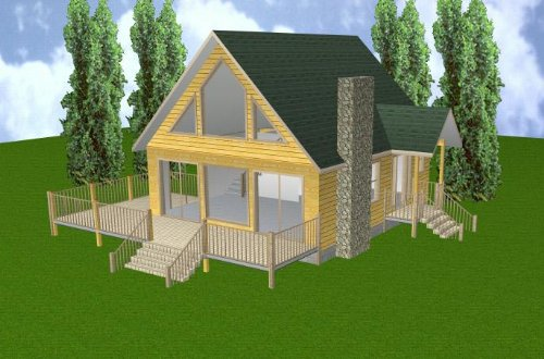 Easy Cabin Designs 24x28 Cabin w/Loft & Basement Plans for sale  Delivered anywhere in USA