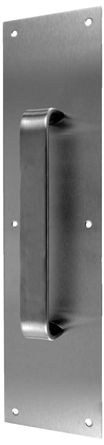 Don-Jo 7037 Half Round Pull Plate 3-1//2 Width x 15 Height Satin Stainless Steel Finish