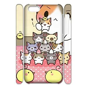 AKERCY Cute Cats Phone 3D Case For Iphone 5C [Pattern-6]