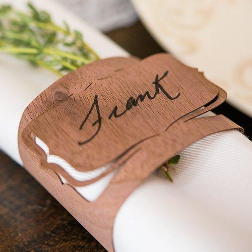 Wood Veneer Wedding Napkin Rings Set of 3 Weddingstar