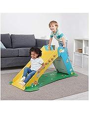 WowWee Toddler Playground – Pop2Play Indoor Slide for Kids – Durable Eco-Friendly Foldaway Cardboard Slide (Sunny)