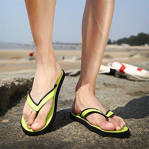para Sandalias Verde de Hierba Chanclas Verano Hombres ailishabroy 64WqUIzwg