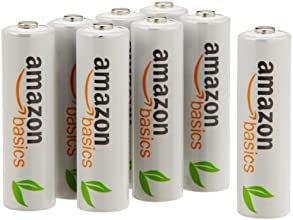AmazonBasics AA Ni-MH Pre-Charged Rechargeable Batteries (8-Pack) - 1000 Cycle (Typical 2000mAh, Minimum 1900mAh)